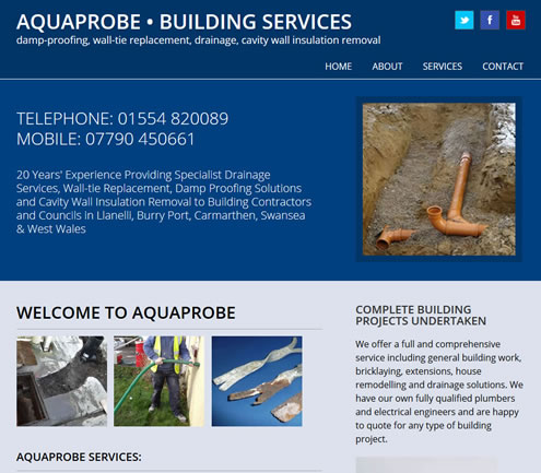 Aquaprobe website