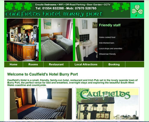 Caulfields Hotel, Burry Port, Wales