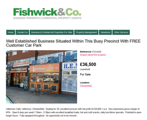 Fishwick & Co Website