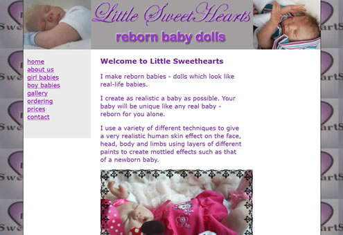 Little Sweethearts Website