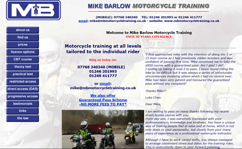 Mike Barlow Motorcycle Training website