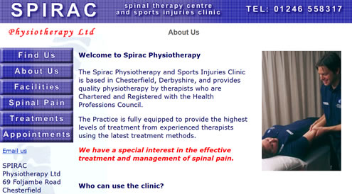 Spirac Physiotherapy, Chesterfield, Derbyshire