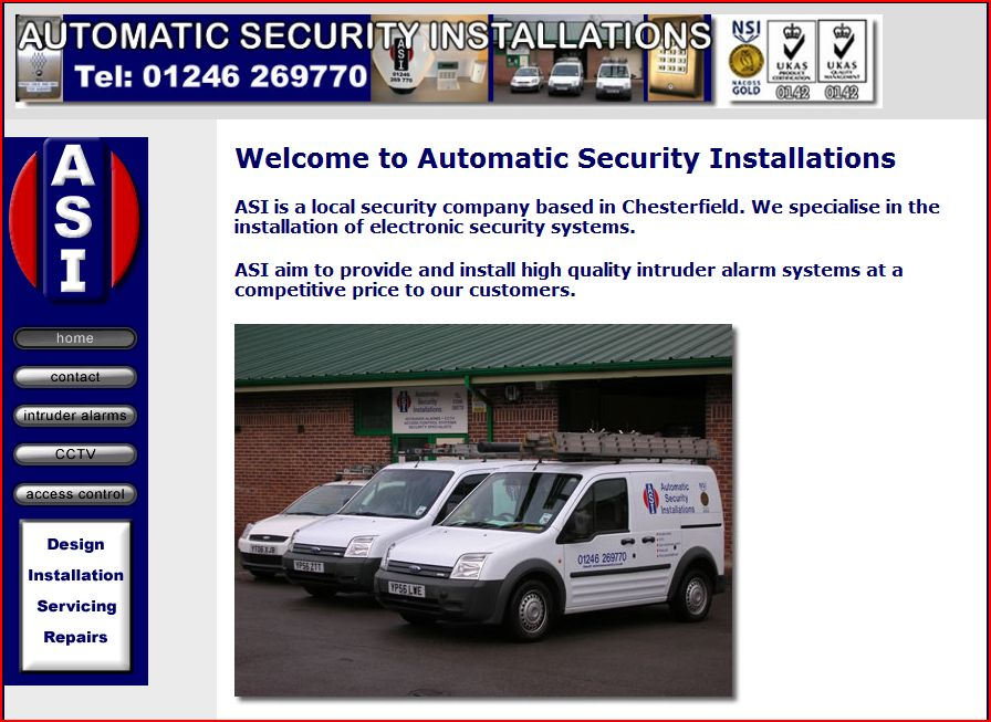 domestic alarms and security website